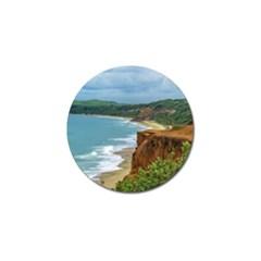 Aerial Seascape Scene Pipa Brazil Golf Ball Marker (10 pack)