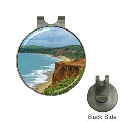 Aerial Seascape Scene Pipa Brazil Hat Clips with Golf Markers