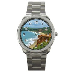 Aerial Seascape Scene Pipa Brazil Sport Metal Watch