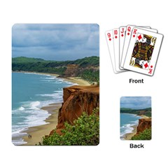 Aerial Seascape Scene Pipa Brazil Playing Card