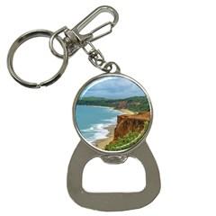 Aerial Seascape Scene Pipa Brazil Button Necklaces