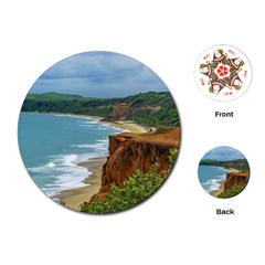 Aerial Seascape Scene Pipa Brazil Playing Cards (Round)