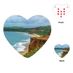 Aerial Seascape Scene Pipa Brazil Playing Cards (Heart)