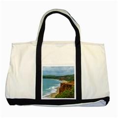 Aerial Seascape Scene Pipa Brazil Two Tone Tote Bag