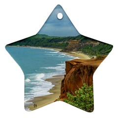 Aerial Seascape Scene Pipa Brazil Star Ornament (Two Sides)