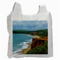 Aerial Seascape Scene Pipa Brazil Recycle Bag (Two Side)