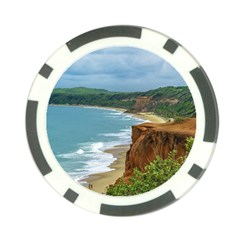 Aerial Seascape Scene Pipa Brazil Poker Chip Card Guards (10 pack)