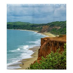 Aerial Seascape Scene Pipa Brazil Shower Curtain 66  x 72  (Large)