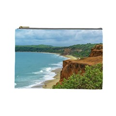 Aerial Seascape Scene Pipa Brazil Cosmetic Bag (Large)