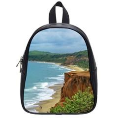 Aerial Seascape Scene Pipa Brazil School Bags (Small)