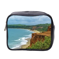 Aerial Seascape Scene Pipa Brazil Mini Toiletries Bag 2-Side