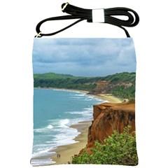 Aerial Seascape Scene Pipa Brazil Shoulder Sling Bags