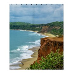 Aerial Seascape Scene Pipa Brazil Shower Curtain 60  x 72  (Medium)