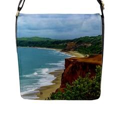 Aerial Seascape Scene Pipa Brazil Flap Messenger Bag (L)