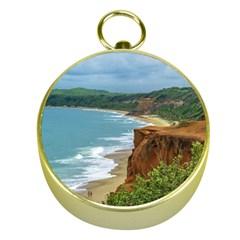 Aerial Seascape Scene Pipa Brazil Gold Compasses