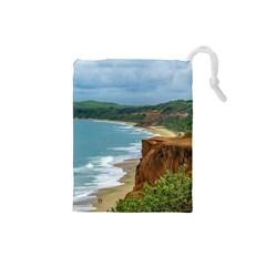 Aerial Seascape Scene Pipa Brazil Drawstring Pouches (Small)