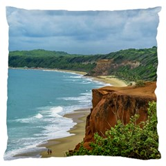 Aerial Seascape Scene Pipa Brazil Large Flano Cushion Case (Two Sides)