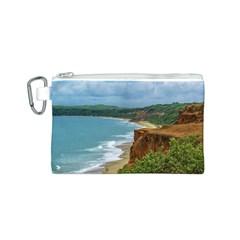 Aerial Seascape Scene Pipa Brazil Canvas Cosmetic Bag (S)
