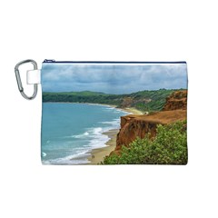 Aerial Seascape Scene Pipa Brazil Canvas Cosmetic Bag (M)