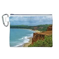 Aerial Seascape Scene Pipa Brazil Canvas Cosmetic Bag (L)