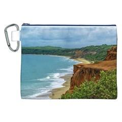Aerial Seascape Scene Pipa Brazil Canvas Cosmetic Bag (XXL)
