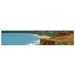 Aerial Seascape Scene Pipa Brazil Flano Scarf (Small)