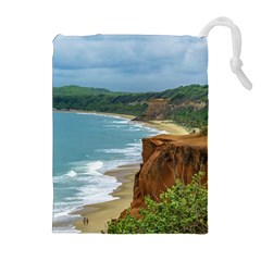 Aerial Seascape Scene Pipa Brazil Drawstring Pouches (Extra Large)