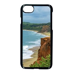Aerial Seascape Scene Pipa Brazil Apple iPhone 7 Seamless Case (Black)
