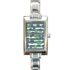 Green simple pattern Rectangle Italian Charm Watch