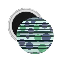 Green simple pattern 2.25  Magnets