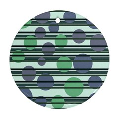 Green simple pattern Ornament (Round)