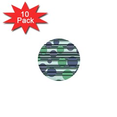 Green simple pattern 1  Mini Buttons (10 pack)