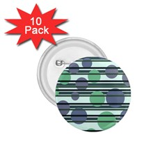 Green simple pattern 1.75  Buttons (10 pack)