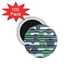 Green simple pattern 1.75  Magnets (100 pack)