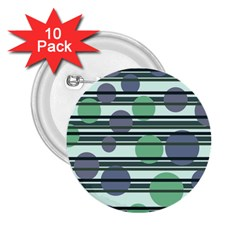 Green simple pattern 2.25  Buttons (10 pack)