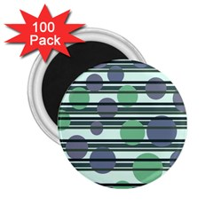 Green simple pattern 2.25  Magnets (100 pack)
