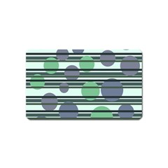Green simple pattern Magnet (Name Card)