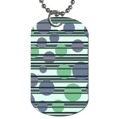 Green simple pattern Dog Tag (One Side)