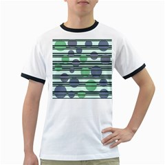 Green simple pattern Ringer T-Shirts