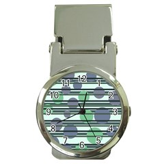 Green simple pattern Money Clip Watches