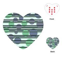 Green simple pattern Playing Cards (Heart)