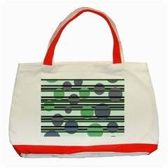 Green simple pattern Classic Tote Bag (Red)