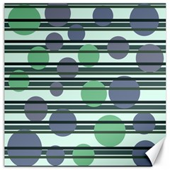 Green simple pattern Canvas 16  x 16