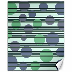 Green Simple Pattern Canvas 16  X 20