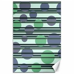 Green simple pattern Canvas 24  x 36