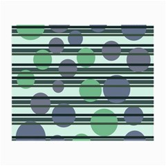 Green simple pattern Small Glasses Cloth (2-Side)
