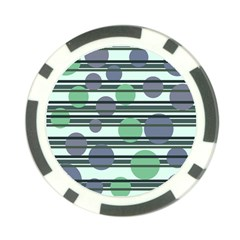 Green simple pattern Poker Chip Card Guards