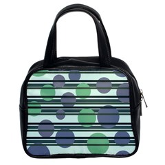 Green simple pattern Classic Handbags (2 Sides)