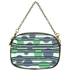 Green simple pattern Chain Purses (One Side)