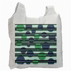 Green simple pattern Recycle Bag (One Side)